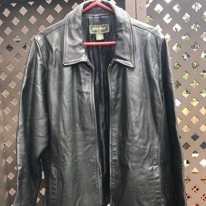 "Womens Eddie Bauer ""Stine"" Black Leather Jacket 3X"
